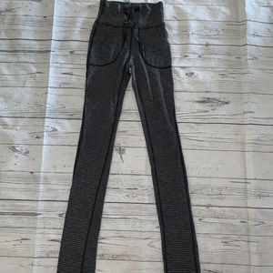 Ω LULULEMON Black/Gray Striped Drawstring Pants 2